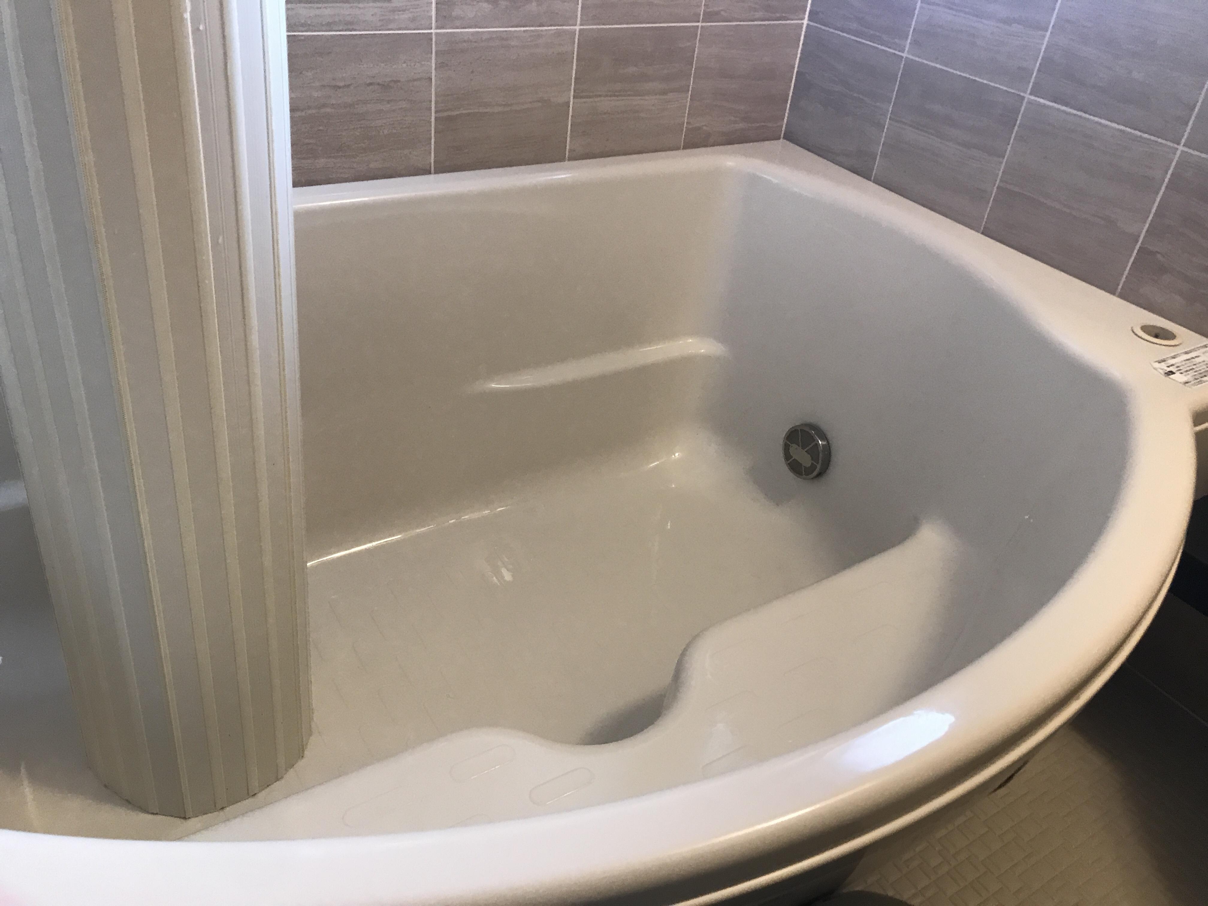 クリーニング後の浴槽
